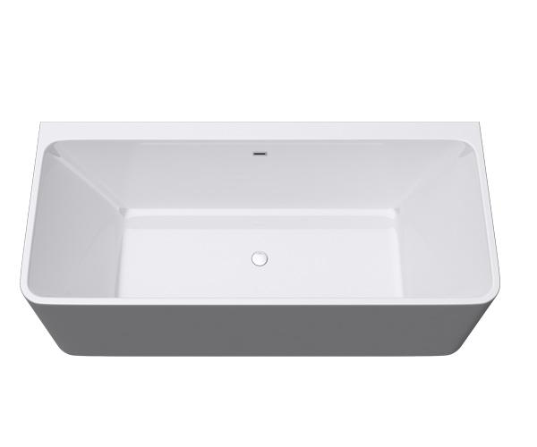 freistehende badewanne rechteck acryl wanne standbadwanne 180x80 vicenza 601oa. Black Bedroom Furniture Sets. Home Design Ideas