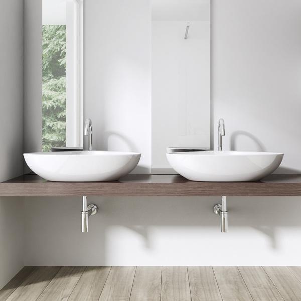keramik waschschale wandmontage waschbecken waschtisch 67x44x15 cm bl895 wow ebay. Black Bedroom Furniture Sets. Home Design Ideas