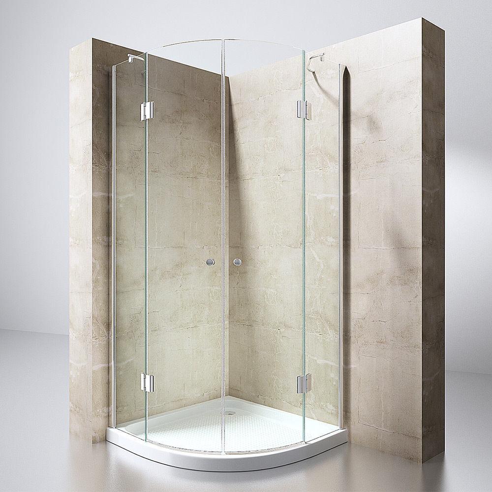 Luxus echtglas duschabtrennung duschkabine dusche acryl for Luxus shower doors