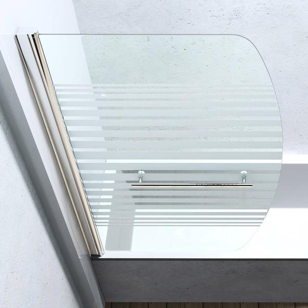 Badewannenfaltwand duschwand badewannen aufsatz dusche trennwand c112s 140 x90cm ebay - Schwenkbare duschwand ...