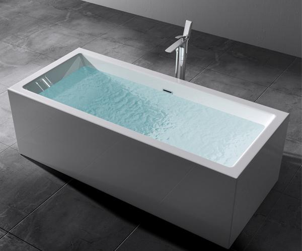 freistehende badewanne rechteck acryl wanne standbadwanne 180x80 vicenza509oa ebay. Black Bedroom Furniture Sets. Home Design Ideas