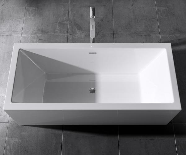 freistehende badewanne rechteck acryl wanne standbadwanne 180x80 vicenza509oa 4251242929246 ebay. Black Bedroom Furniture Sets. Home Design Ideas
