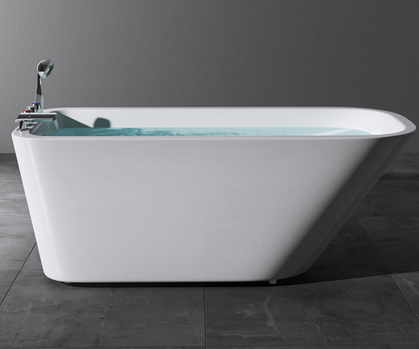 Freistehende badewanne acryl wanne standbadewanne armatur for Badewanne stahl oder acryl