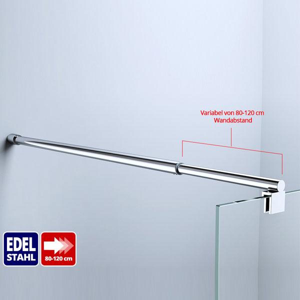 glaswand stabilisator haltestange duschabtrennung dusche aus edelstahl ebay. Black Bedroom Furniture Sets. Home Design Ideas