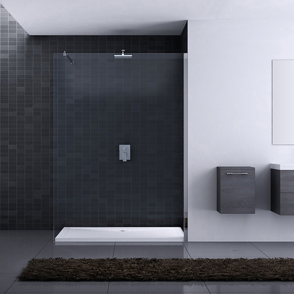 luxus dusche duschwand echtglas variabel 80 120cm inkl lotus effekt ebay. Black Bedroom Furniture Sets. Home Design Ideas
