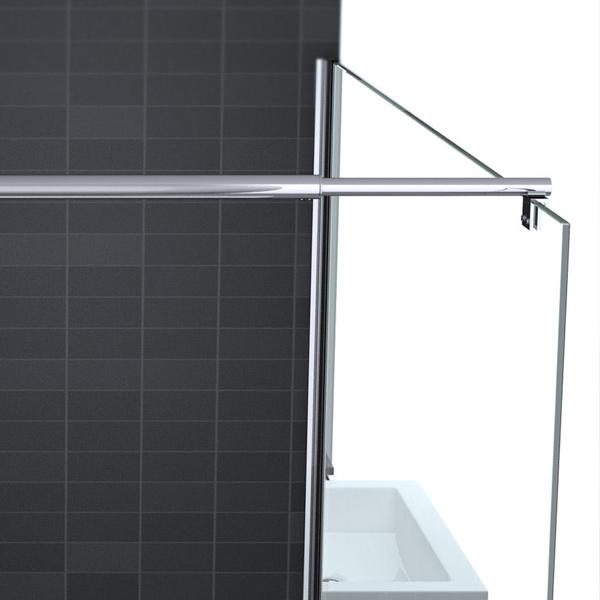 luxus dusche duschwand echtglas variabel 80 120cm inkl lotus effekt ebay. Black Bedroom Furniture Sets. Home Design Ideas