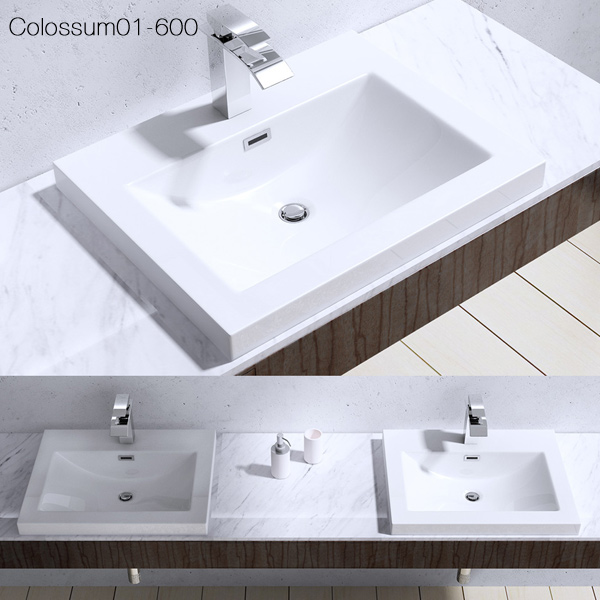 design gussmarmor waschbecken waschtisch mineralguss aufsatzbecken colossum 01 ebay. Black Bedroom Furniture Sets. Home Design Ideas