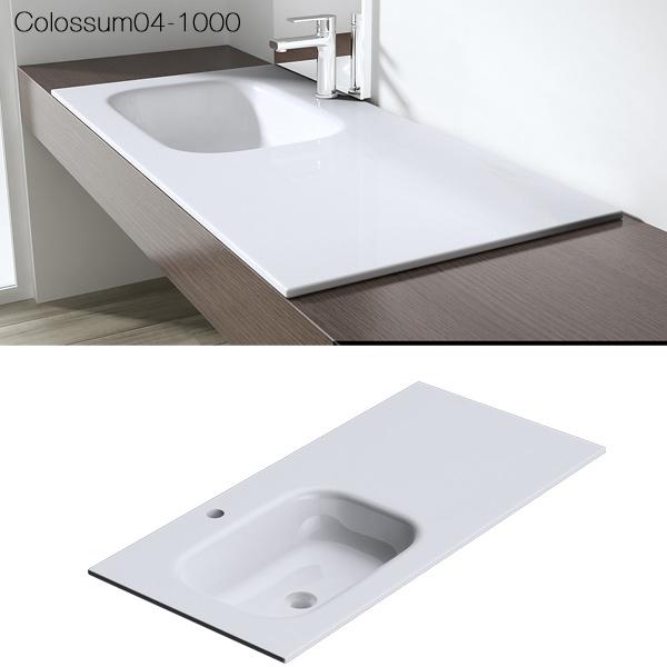 mineralguss waschbecken gussmarmor waschtisch aufsatzwaschbecken colossum04 wei ebay. Black Bedroom Furniture Sets. Home Design Ideas