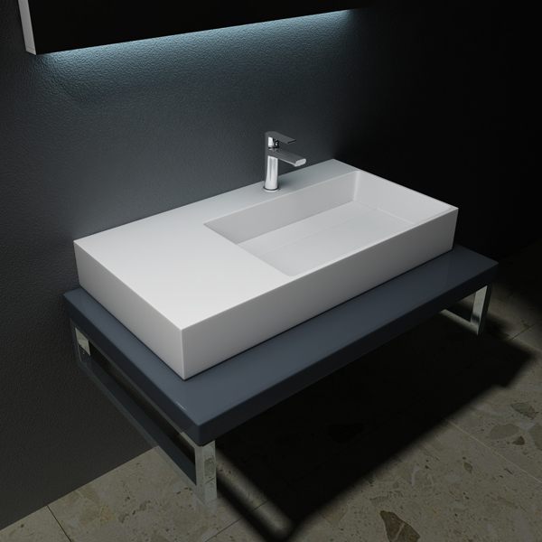 design gussmarmor waschbecken mineralgussmarmor aufsatzwaschbecken colossum 12 ebay. Black Bedroom Furniture Sets. Home Design Ideas
