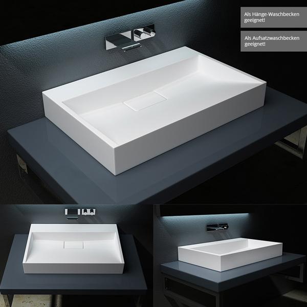 mineralguss h ngewaschbecken aufsatzwaschbecken h ngewaschtisch gussmarmor col19 ebay. Black Bedroom Furniture Sets. Home Design Ideas