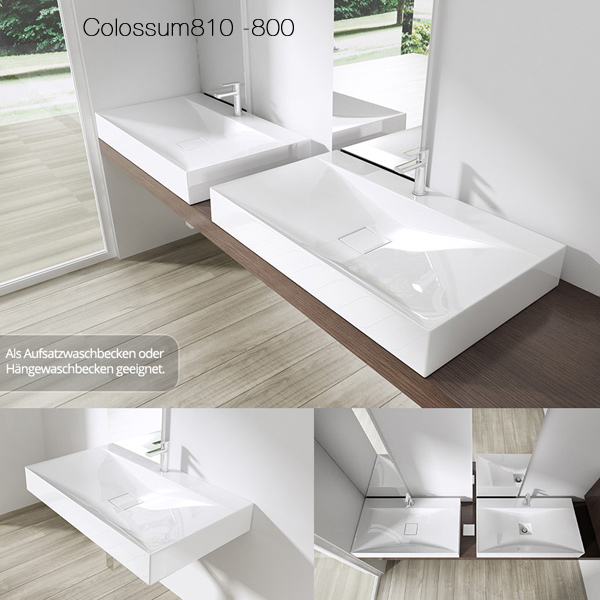 mineralguss waschbecken gussmarmor waschtisch aufsatzwaschbecken colossum810 neu ebay. Black Bedroom Furniture Sets. Home Design Ideas