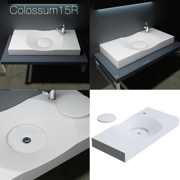 design mineralguss waschbecken gussmarmor waschtisch aufsatzwaschbecken colossum ebay. Black Bedroom Furniture Sets. Home Design Ideas