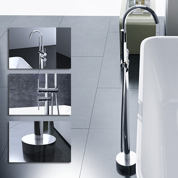 standarmatur freistehend wannenarmatur armatur badewannenarmatur fontanum03 ebay. Black Bedroom Furniture Sets. Home Design Ideas