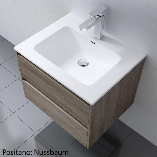design badm bel badezimmerm bel badezimmer waschbecken waschtisch set positano ebay. Black Bedroom Furniture Sets. Home Design Ideas