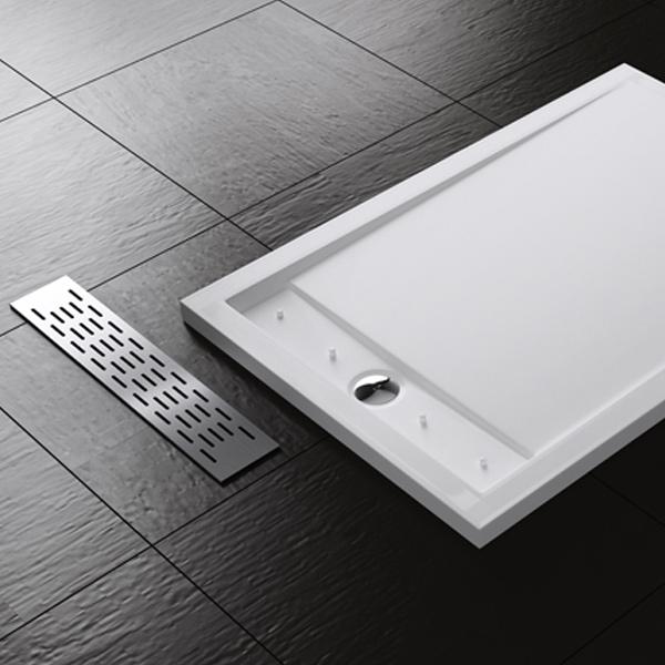 design duschtasse duschwanne brausewanne edelstahl flach 80 90x120 140cm xetro ebay. Black Bedroom Furniture Sets. Home Design Ideas